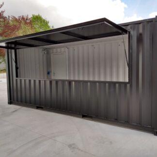 20 ft zwarte barcontainer met luik en electra