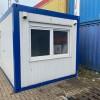 bureaucontainer wit met blauw