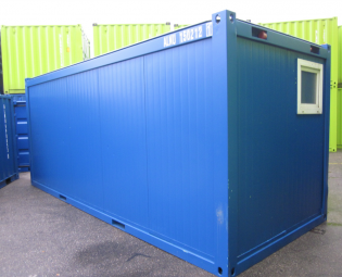 Tweedehands 20 ft burocontainer 6 bij 2,5m