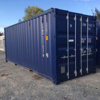 20 ft blauwe container eerste reis