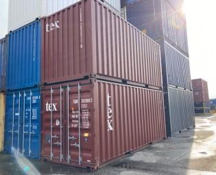 jong gebruikte 20 ft zeecontainer stapelbaar