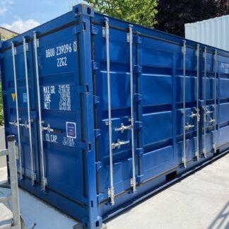 open side 20 ft container eerste reis
