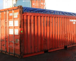 tweedehands 20 ft open top zeecontainer