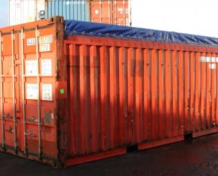 tweedehands 20 ft open top zeecontainer